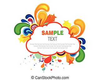 abstract colorful cloud artistic explode vector illustration
