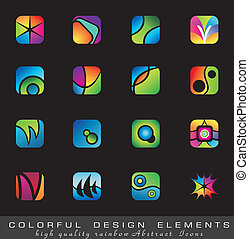 Colorful collection of Design Elements