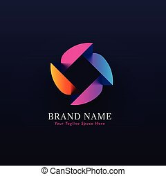 abstract colorful concept logo design vector