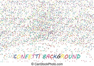 Abstract colorful confetti background. Isolated on the white. Vector illustration