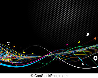 Abstract Colorful Creative Lines Background