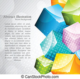 Abstract colorful cubes - Abstract backgrond with colorful...