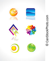 abstract colorful design elements