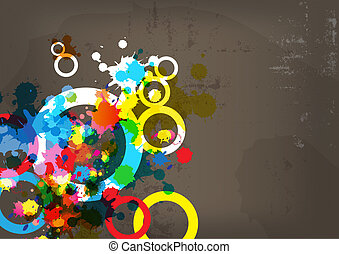 abstract colorful design on grunge background