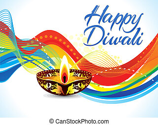 abstract colorful diwali wave background - abstract colorful...