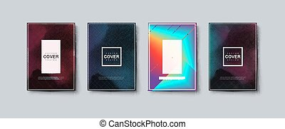 Abstract colorful engraving texture cover design. Vector ...