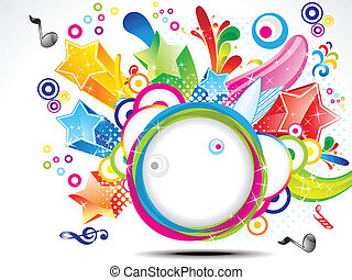 abstract colorful exploade circle