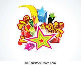 abstract colorful explode star