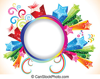 abstract colorful explode template vector illustration