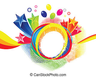 abstract colorful explode  vector