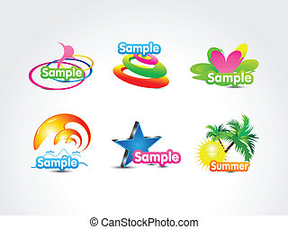 abstract colorful fake logo icon vector illustration
