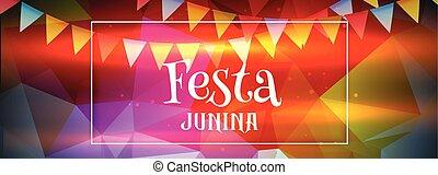 abstract colorful festa junina banner