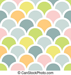 Abstract colorful fishscale seamless pattern background