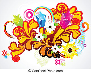 abstract colorful floral background