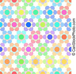 Abstract Colorful Floral Seamless Pattern. Vector