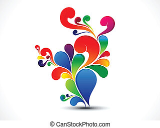 abstract colorful floral  vector