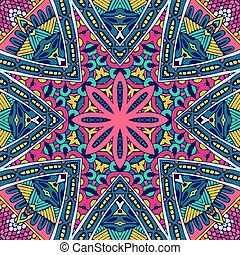 Abstract colorful floral vector pattern