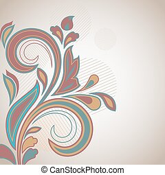 Abstract colorful floral vintage background