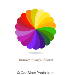 Abstract Colorful Flower