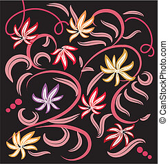 Abstract colorful flower pattern , element for design, vector illustration - 1