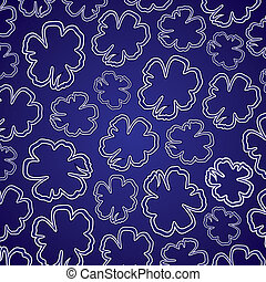 abstract colorful flower pattern