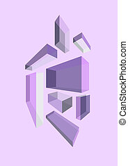 Colorful Flying Box, purple tone
