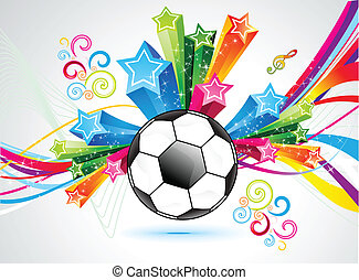 abstract colorful football explode background vector...