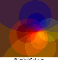 Abstract Colorful Fractal Circles Background