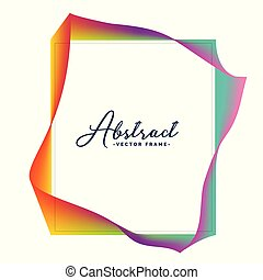 abstract colorful frame design with text space