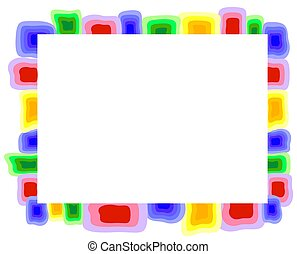 Abstract colorful frame. EPS10 vector illustration.