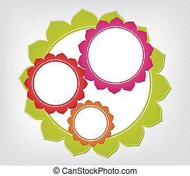 Abstract colorful frames. Vector background