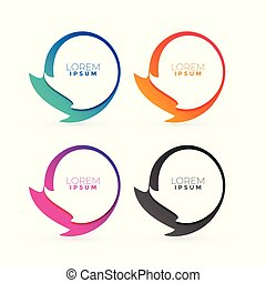 abstract colorful frames with text space