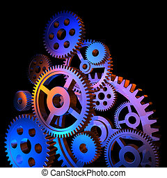Abstract colorful gears