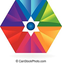 Abstract colorful geometric logo
