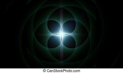 Abstract colorful geometric pattern symmetric kaleidoscope...
