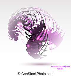 Abstract colorful geometric purple background
