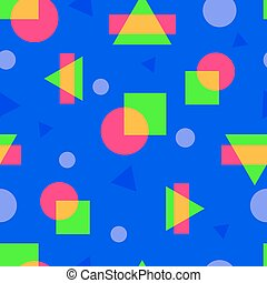 abstract colorful geometric seamless pattern in modern style