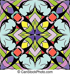 Abstract colorful geometric seamless pattern. Multicolor floral
