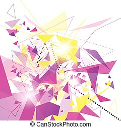 Abstract Colorful Geometrical Background Copy Space