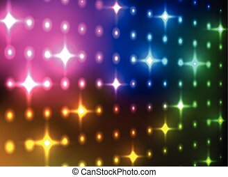 Abstract colorful glittering light wall vector background.