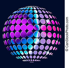 Abstract colorful globe vector