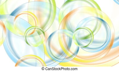 Abstract colorful glossy circles video animation