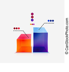 Abstract colorful glossy graph concept