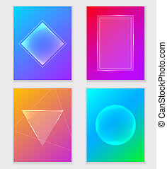 Abstract colorful gradient backgrounds