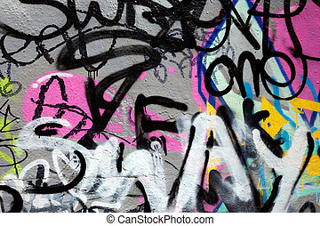 Abstract colorful graffiti background