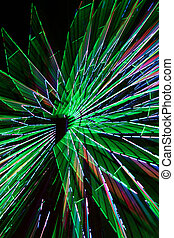 Abstract Colorful Green Spinning Ferris Wheel 2