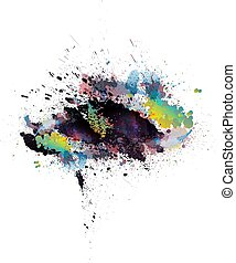 Abstract colorful grunge splashes