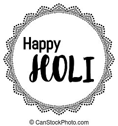 Abstract colorful Happy Holi background for Festival of Colors c