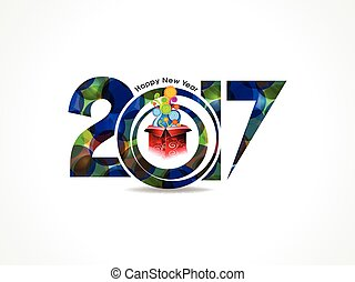 abstract colorful happy new year background with magic box