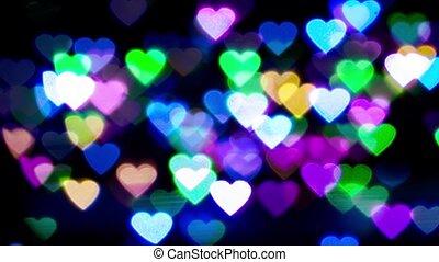 abstract colorful heart bokeh